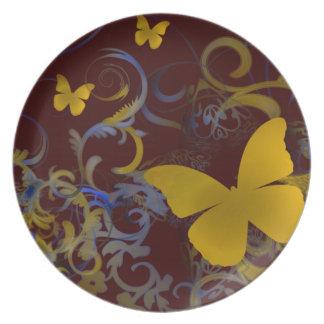 Mariposa Platos Para Fiestas