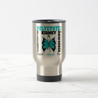 Mariposa policística de la conciencia de la enferm tazas de café
