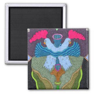 Mariposa--Pollos del mar Imán Cuadrado