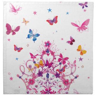 Mariposa preciosa del infinito servilleta imprimida