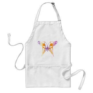 Mariposa psicodélica delantal