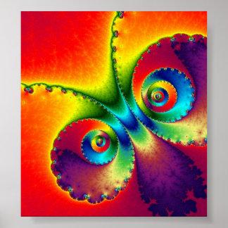 Mariposa psicodélica posters