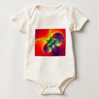 Mariposa psicodélica traje de bebé