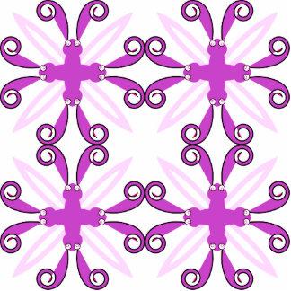 Mariposa púrpura abstracta de la conciencia escultura fotográfica