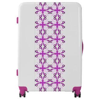 Mariposa púrpura abstracta de la conciencia maletas
