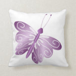 Mariposa púrpura almohada