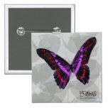 Mariposa - púrpura - botón pin