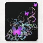 Mariposa púrpura brillante tapete de ratones