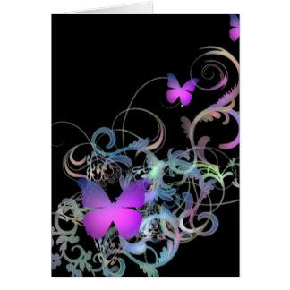 Mariposa púrpura brillante tarjetas