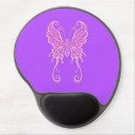 Mariposa púrpura compleja alfombrillas con gel