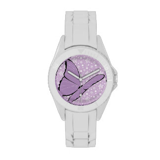 Mariposa púrpura de la conciencia relojes