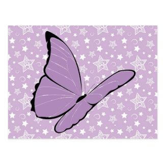 Mariposa púrpura de la conciencia postales