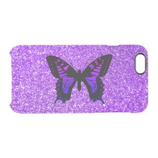 Mariposa púrpura en brillo
