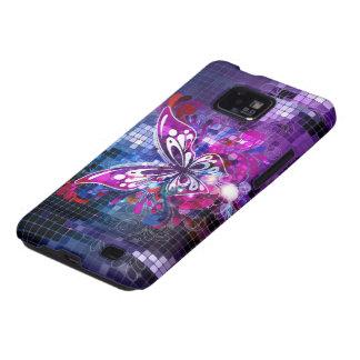 Mariposa púrpura galaxy s2 fundas