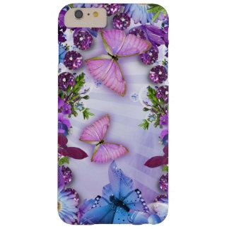 Mariposa púrpura funda para iPhone 6 plus barely there