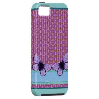 Mariposa púrpura funda para iPhone SE/5/5s
