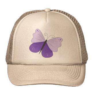 Mariposa púrpura gorros bordados
