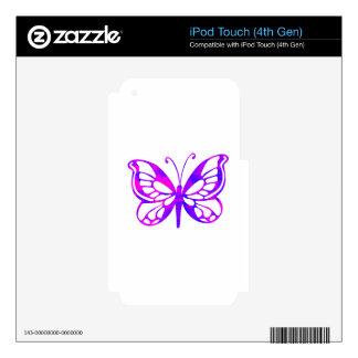 Mariposa púrpura iPod touch 4G calcomanías