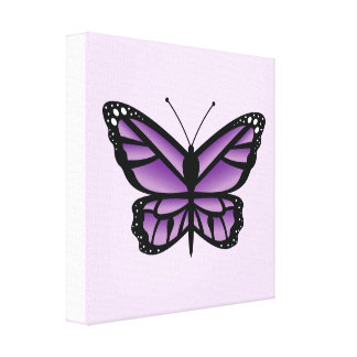 Mariposa púrpura lona envuelta para galerias