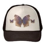 Mariposa púrpura magnífica gorros bordados