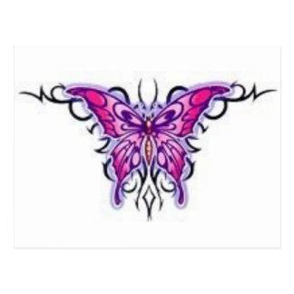 mariposa púrpura magnífica tribal tarjeta postal