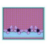 Mariposa púrpura membrete a diseño