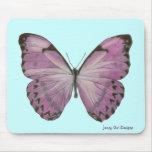 Mariposa púrpura Mousepad Alfombrillas De Ratón