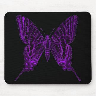 Mariposa púrpura Mousepad Alfombrillas De Ratones