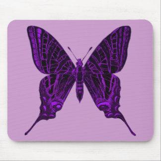Mariposa púrpura Mousepad Tapete De Ratón