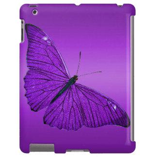 Mariposa púrpura oscura de los 1800s del vintage e funda para iPad