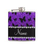 Mariposa púrpura personalizada del brillo del añil