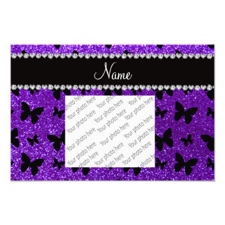 Mariposa púrpura personalizada del brillo del añil impresión fotográfica