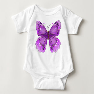 Mariposa púrpura remeras