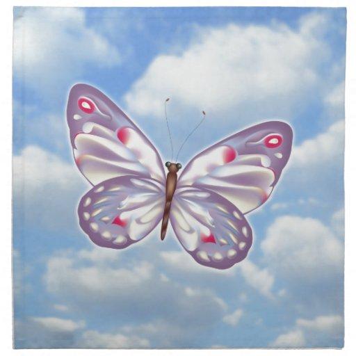 Mariposa púrpura servilletas de papel