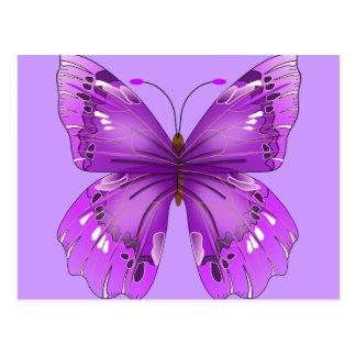 Mariposa púrpura postal