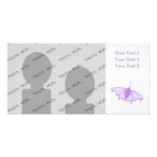 Mariposa púrpura tarjetas personales