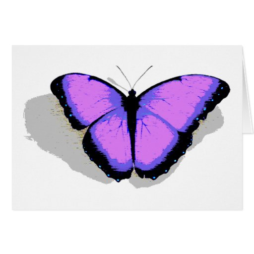 ¡Mariposa púrpura! Tarjeton