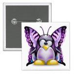 Mariposa púrpura Tux (Linux Tux) Pin