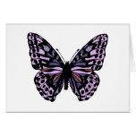 Mariposa púrpura y negra felicitación