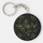 mariposa que brilla intensamente llaveros personalizados