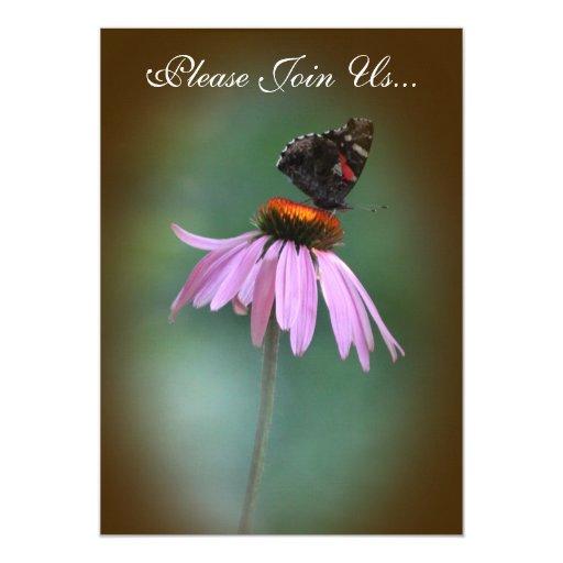 Mariposa que casa /brown 2 invitación 12,7 x 17,8 cm