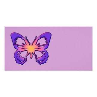 Mariposa radiante tarjetas fotograficas