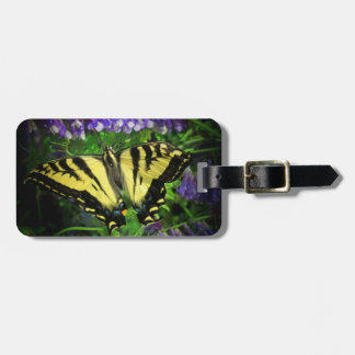 Mariposa rayada del tigre etiquetas bolsa
