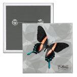 Mariposa - rayas - botón pin