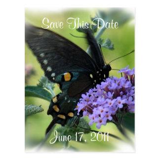 Mariposa-reserva que la fecha modifica para tarjeta postal