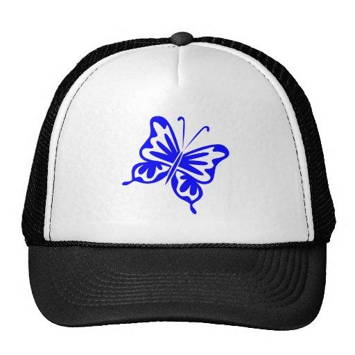 Mariposa retra - azul gorro