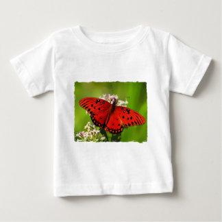 Mariposa roja con los bordes playeras