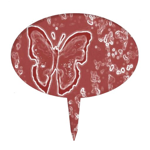 Mariposa roja decoraciones para tartas