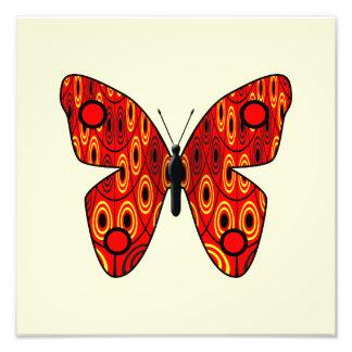 Mariposa roja fotografías