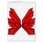 Mariposa roja III Felicitaciones